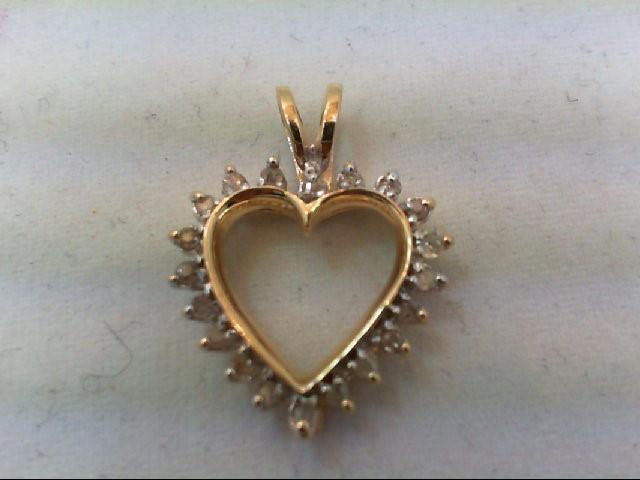 Gold-Multi-Diamond Pendant 20 Diamonds .20 Carat T.W. 14K Yellow Gold 1.9g