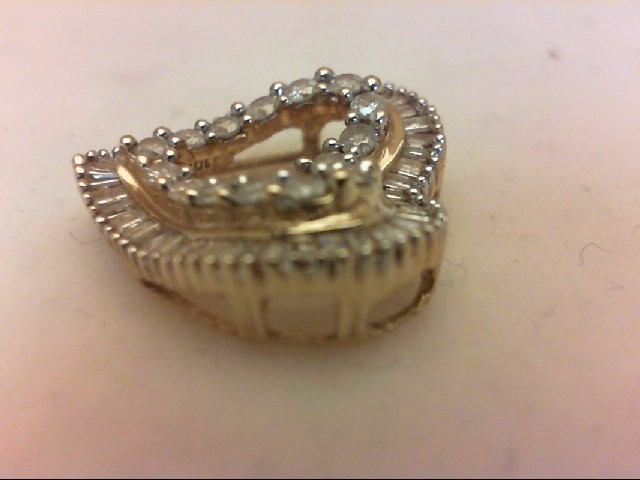 Gold-Multi-Diamond Pendant 66 Diamonds 0.82 Carat T.W. 10K Yellow Gold 2g