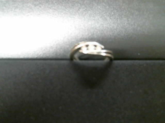 Lady's Diamond Cluster Ring 3 Diamonds .03 Carat T.W. 10K White Gold 2.2g