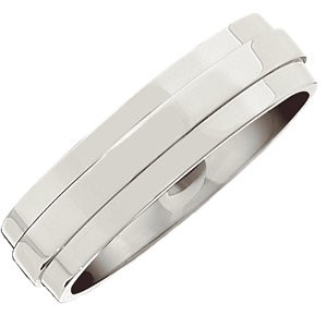 Gent's Wedding Band Silver Stainless 5.9g