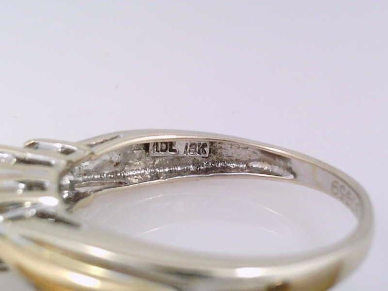 VINTAGE PRINCESS NATURAL 3 DIAMOND RING SOLID 18K GOLD ENGAGE WHITE