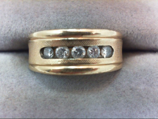 Lady's Diamond Wedding Band 5 Diamonds .25 Carat T.W. 14K Yellow Gold 5.4g