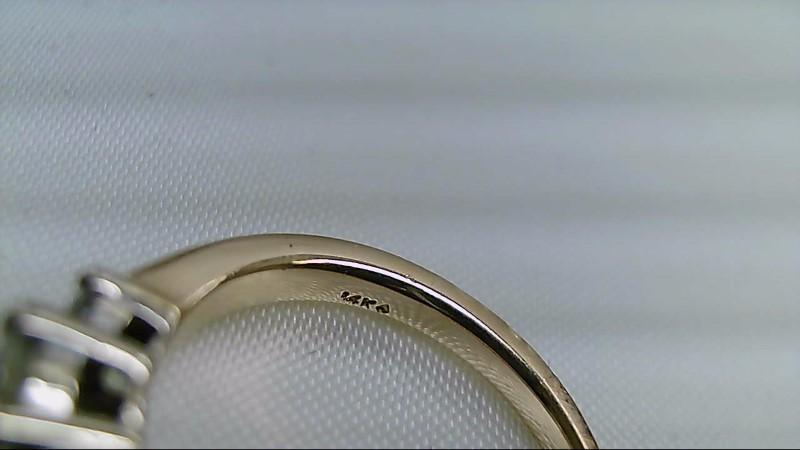 Lady's Diamond Engagement Ring 3 Diamonds .50 Carat T.W. 14K Yellow Gold 3.2g