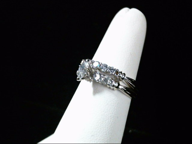 Lady's Diamond Wedding Set 10 Diamonds .71 Carat T.W. 14K White Gold 5.6g