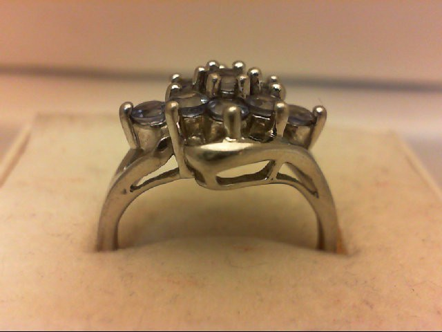 Tanzanite Lady's Silver & Stone Ring 925 Silver 3.1g