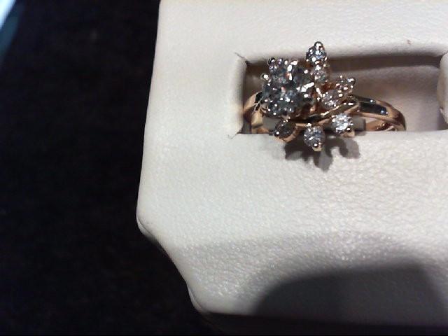 Lady's Diamond Wedding Set 12 Diamonds 1.00 Carat T.W. 14K Yellow Gold 4.33g
