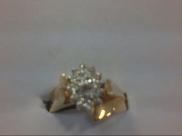Lady's Diamond Cluster Ring 15 Diamonds .45 Carat T.W. 14K Yellow Gold 4.1g