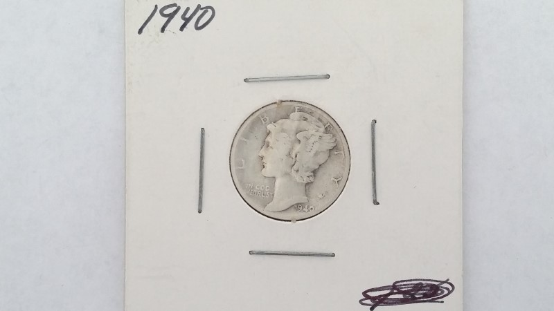 United States 1940 Mercury Dime
