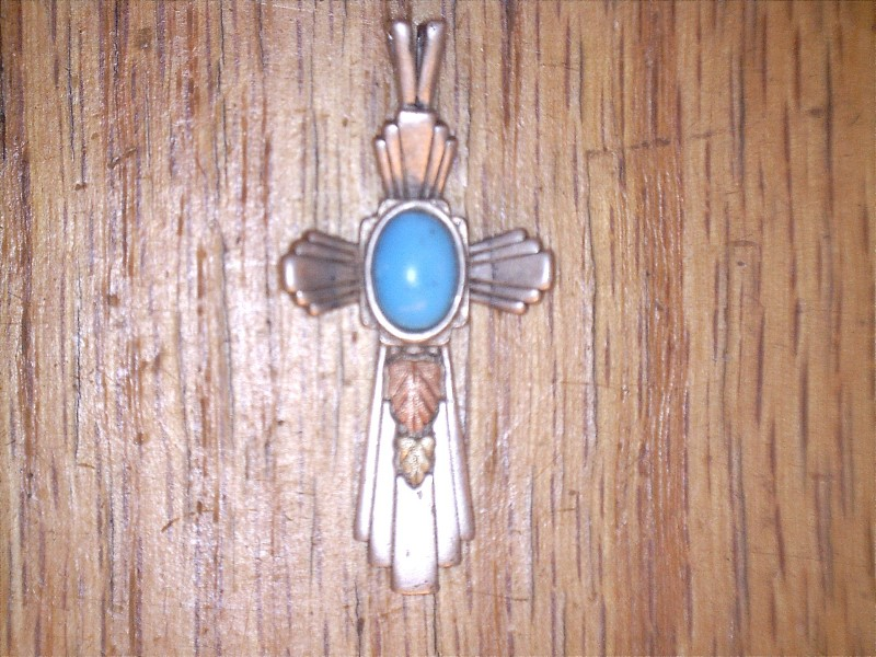 Turquoise Silver-Stone Pendant 925 Silver 2.54dwt