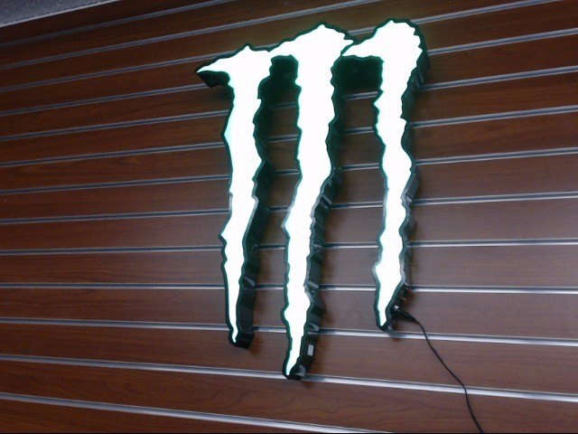 MONSTER Sign CLAW LED