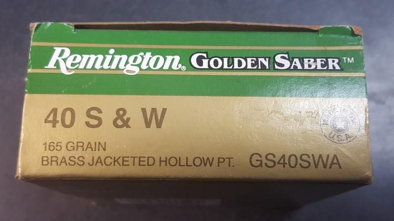 REMINGTON FIREARMS Ammunition GOLDEN SABER .40 S&W