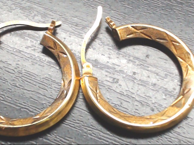Gold Earrings 10K Yellow Gold 1.4g