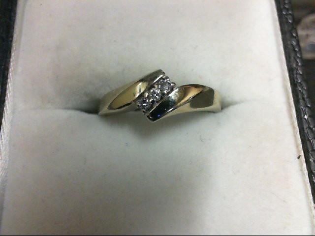 Lady's Diamond Wedding Band 3 Diamonds 0.06 Carat T.W. 10K White Gold 1.6g