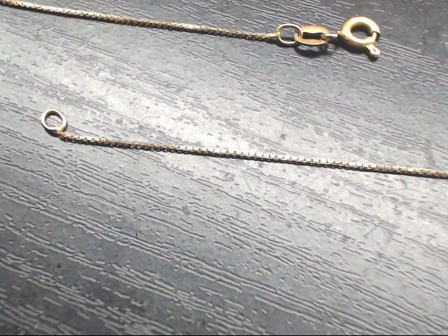"21.5"" Gold Box Chain 14K Yellow Gold 1.8g"