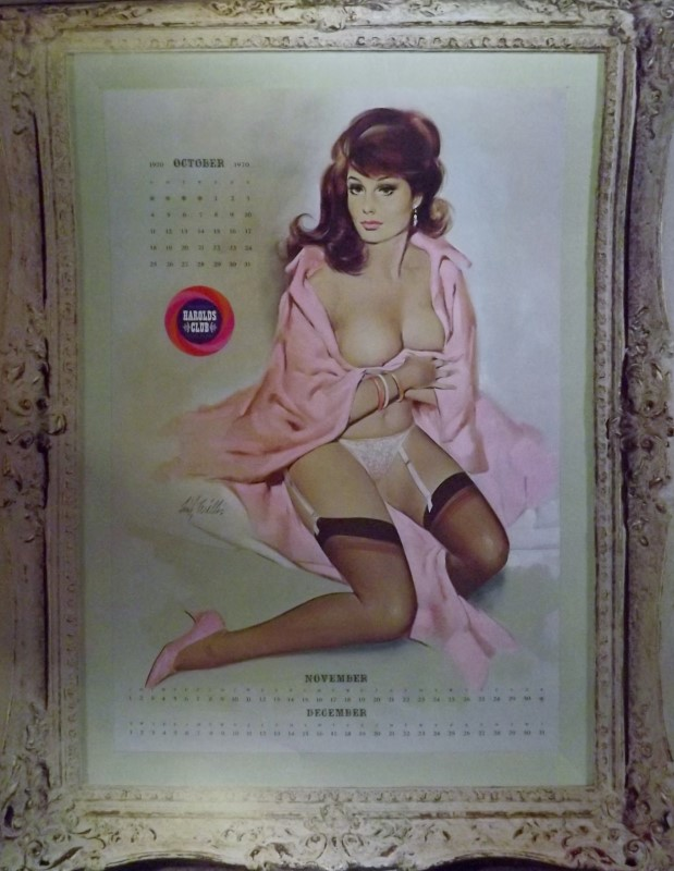 FRITZ WILLIS 1970 PIN-UP CALENDAR (HAROLD'S CLUB)