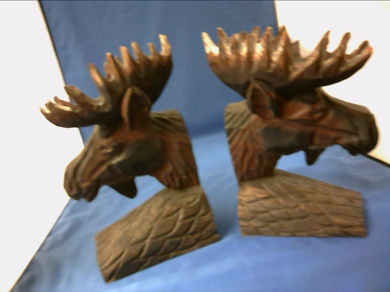 NATIVE AMERICAN NEW MISC NEW MISC SQUIRE BOONE VILLAGE W491A-IR; ANIMAL BOOKENDS