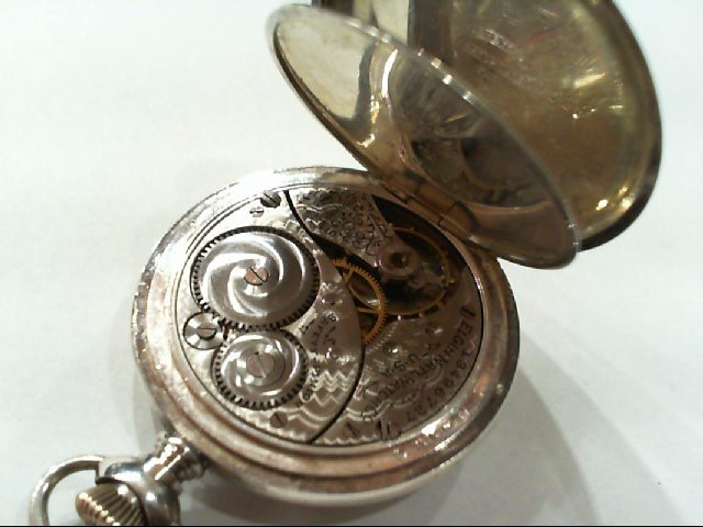 ELGIN Pocket Watch 1907 925 Silver 41.7g