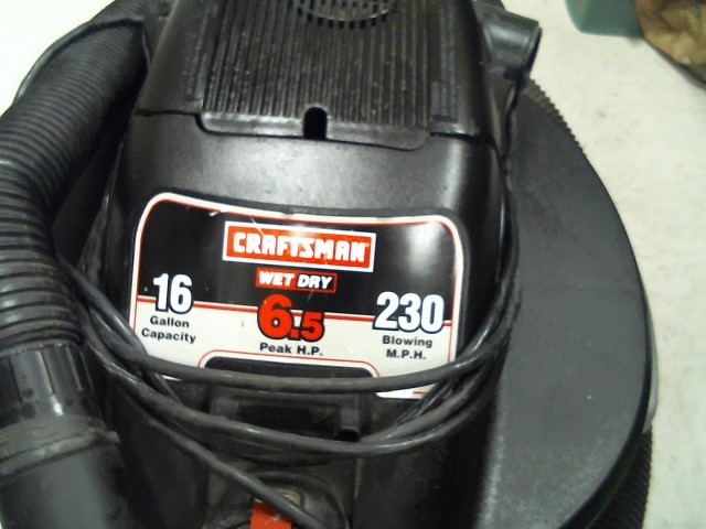 CRAFTSMAN Vacuum Cleaner 16 GAL WET DRY DRY VAC 113.1706600