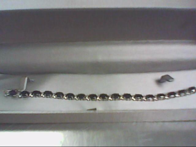 Blue Stone Silver-Stone Bracelet 925 Silver 13g