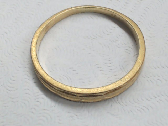 Lady's Gold Wedding Band 10K Yellow Gold 1.5g Size:7.5