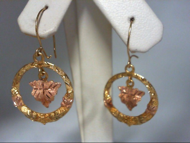 Gold Earrings 10K Tri-color Gold 6.3g