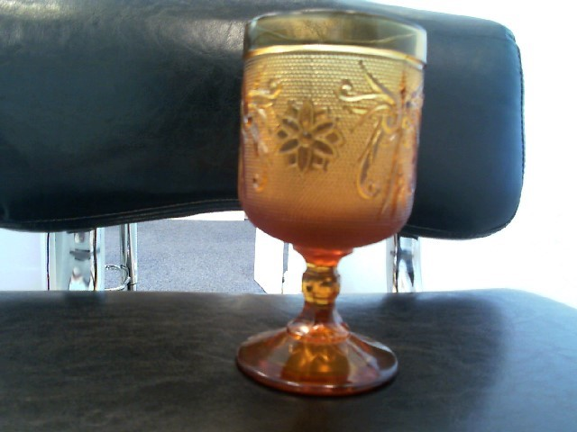 TIARA AMBER WINE GLASS GOBLET