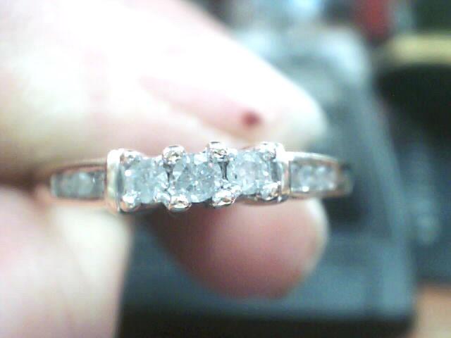Lady's Gold-Diamond Anniversary Ring 17 Diamonds .21 Carat T.W. 10K Yellow Gold
