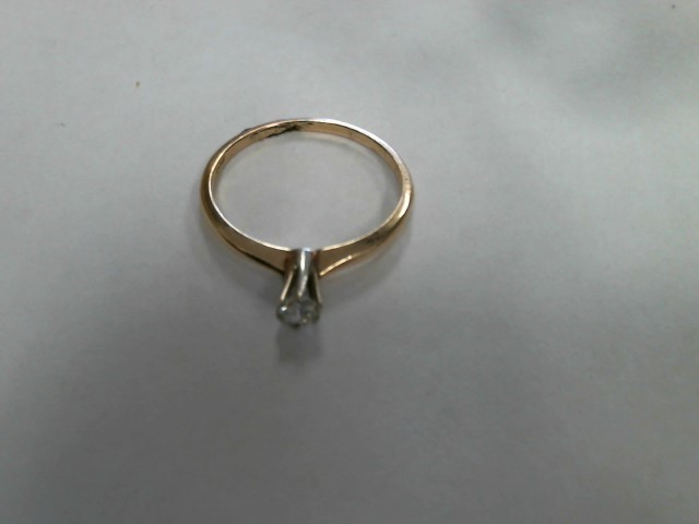 Lady's Diamond Solitaire Ring .20 CT. 14K Yellow Gold 1dwt