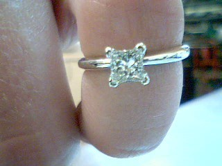 Lady's Diamond Solitaire Ring .42 CT. 14K White Gold 2.2g