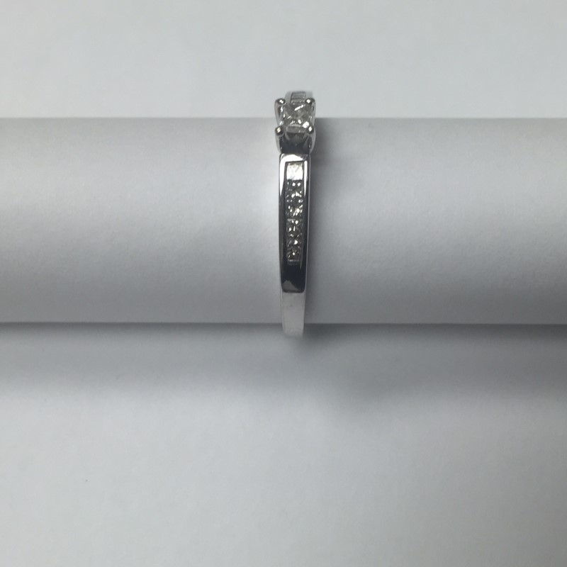 Lady's Diamond Engagement Ring 13 Diamonds .52 Carat T.W. 14K White Gold 2.1dwt