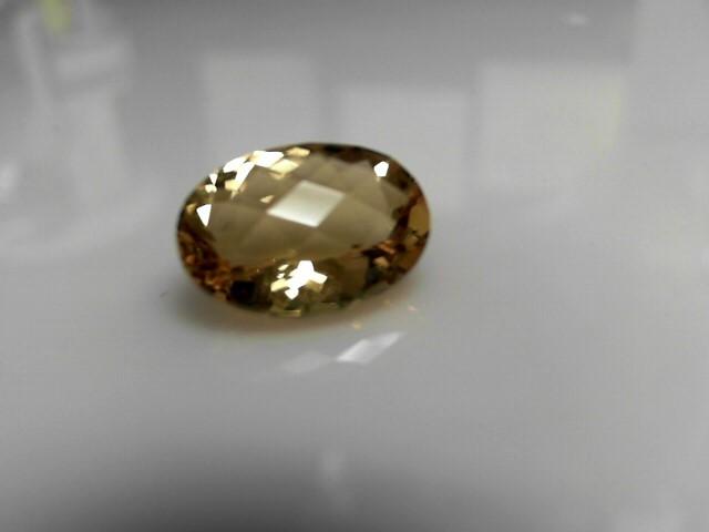 8.27cts Light Topaz Oval Cut Stone