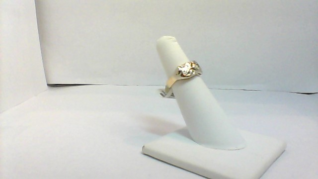 Lady's Diamond Fashion Ring 9 Diamonds .39 Carat T.W. 14K Yellow Gold 4.6g