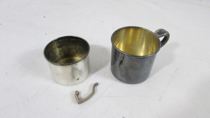 SILVER PLATE CUPS