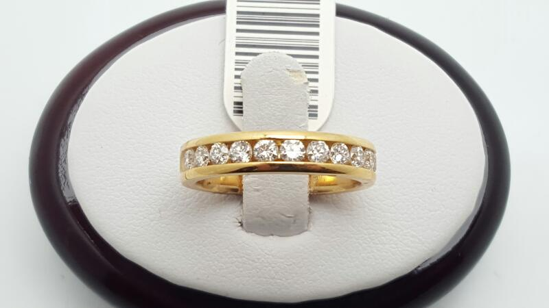 Lady's Gold-Diamond Anniversary Ring 11 Diamonds .77 Carat T.W. 14K Yellow Gold