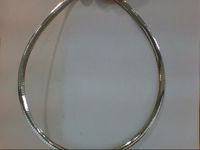 "16"" Silver Omega Chain 925 Silver 28.5g"