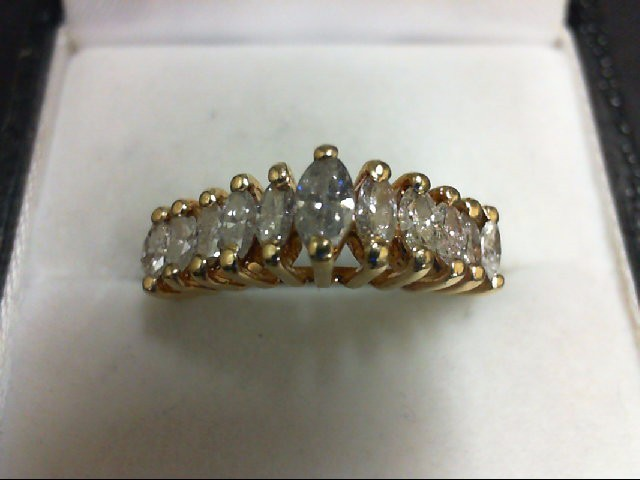 Lady's Gold-Diamond Anniversary Ring 11 Diamonds 0.98 Carat T.W. 14K Yellow Gold