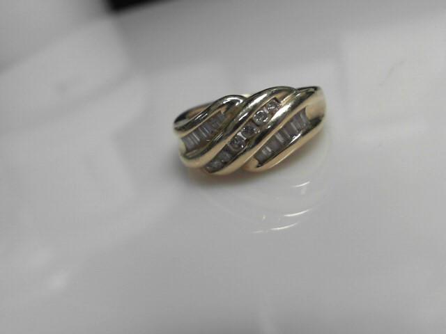 Diamond Fashion Ring 21 Diamonds .49 Carat T.W. 10K Yellow Gold 4.95g