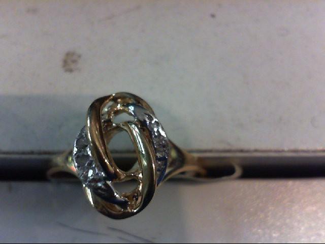 Lady's Diamond Cluster Ring 5 Diamonds .025 Carat T.W. 14K Yellow Gold 2.4g