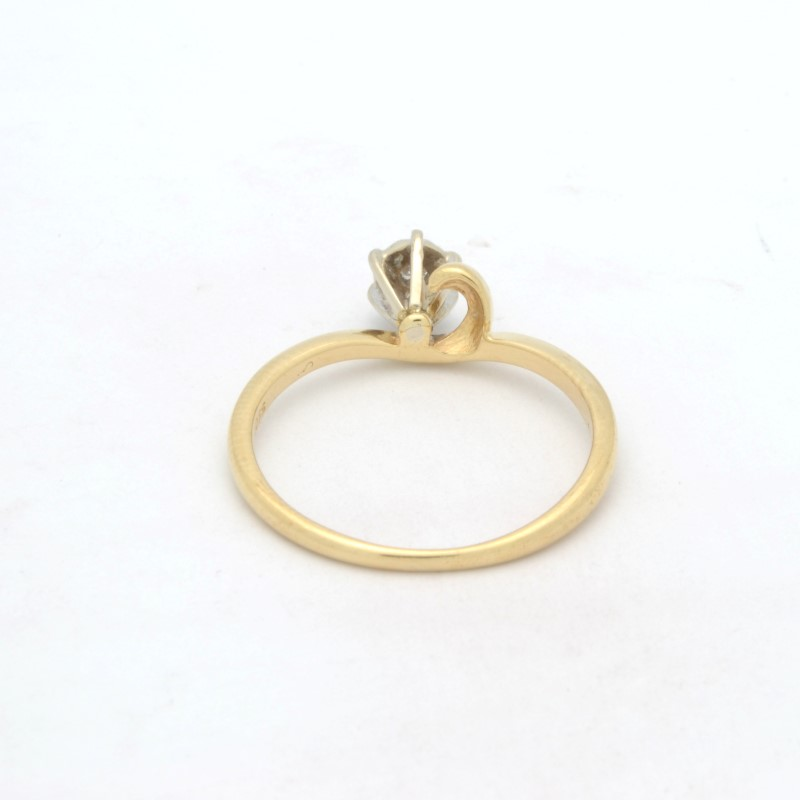 ESTATE DIAMOND RING SOLID 10K GOLD ENGAGEMENT WEDDING FINE SIZE 6.25