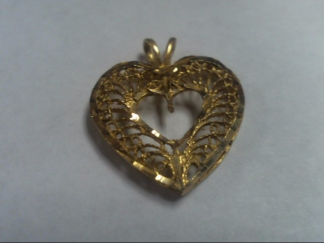 Gold HEART Pendant 14K Yellow Gold CHARM 1.1g