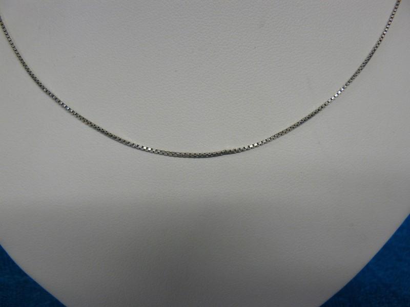 """16"""" Silver Box Chain 925 Silver 0.8dwt"""