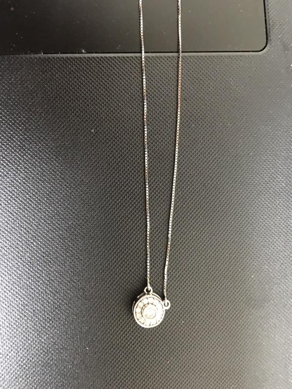 Gold-Multi-Diamond Pendant 13 Diamonds .43 Carat T.W. 14K White Gold 1.5dwt