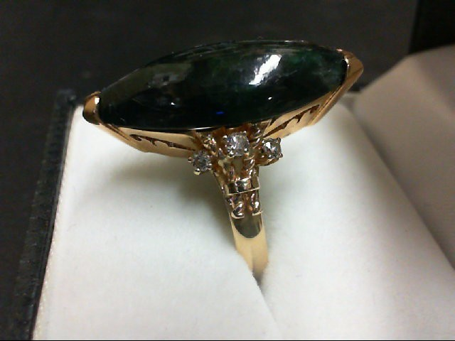 Lady's Diamond Fashion Ring 6 Diamonds 0.12 Carat T.W. 14K Yellow Gold 6.7g