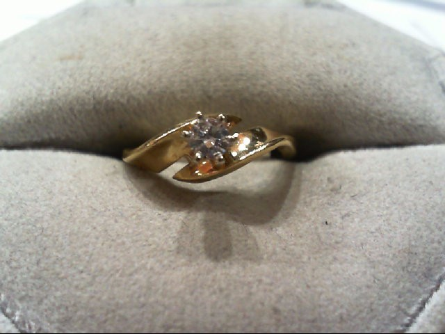 Lady's Diamond Engagement Ring .17 CT. 14K Yellow Gold 2.2g