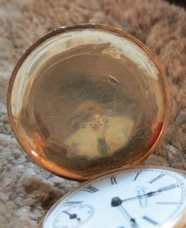 Antique WALTHAM 1881 Pocket Watch 14K-LADIES GOLD HUNTER CASE POCKET WATCH