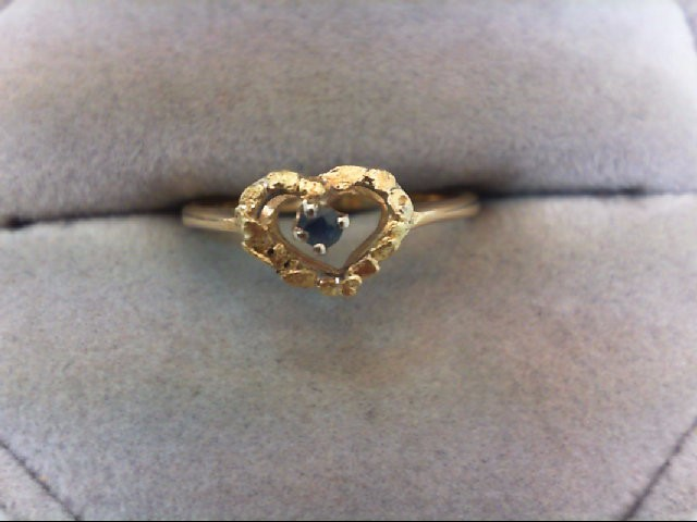 Sapphire Lady's Stone Ring 14K Yellow Gold 2g