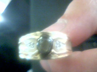 Black Stone Gent's Stone Ring 10K Yellow Gold 7.17g