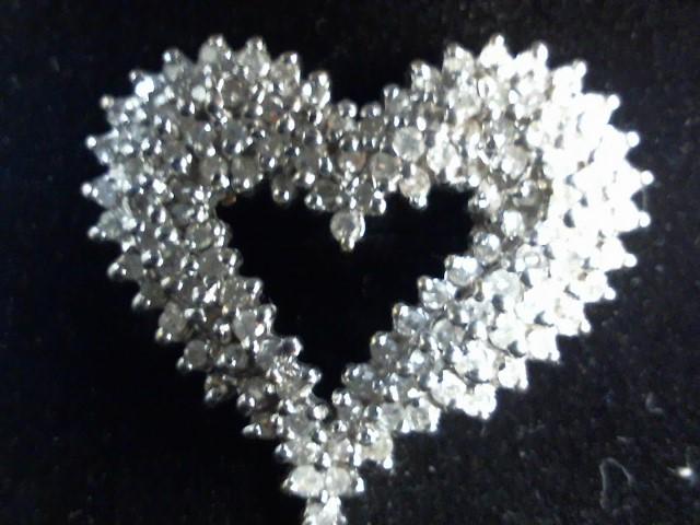 Gold-Multi-Diamond Pendant 100 Diamonds 1.00 Carat T.W. 14K Yellow Gold 6.4g