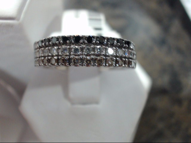 Lady's Gold-Diamond Anniversary Ring 0.01 CT. 14K White Gold 7.7g