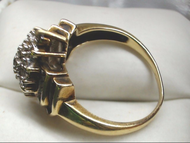 Lady's Diamond Cluster Ring 47 Diamonds .53 Carat T.W. 10K Yellow Gold 5g